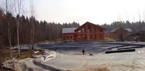 Гидроизоляция искусственных прудов или водоемов