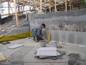 Внутренняя отделка фонтана