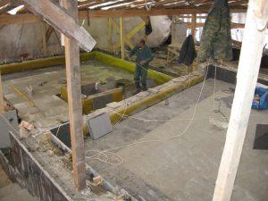 Работы по гидроизоляции фонтана