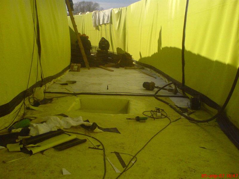 Подземная гидроизоляция с разделительной шпонкой
