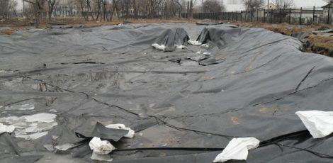 Искусственный водоём, г. Рубежное Украина
